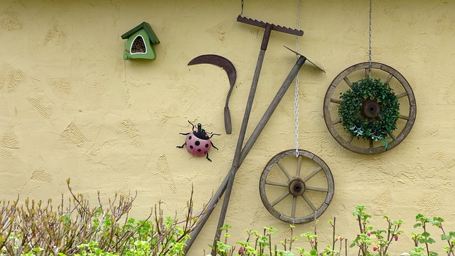 оформление, садовые инструменты, насекомых отель