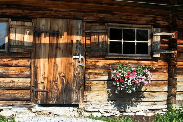 дом, коттедж, дверь