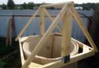 Строительство каркаса домика для колодца
