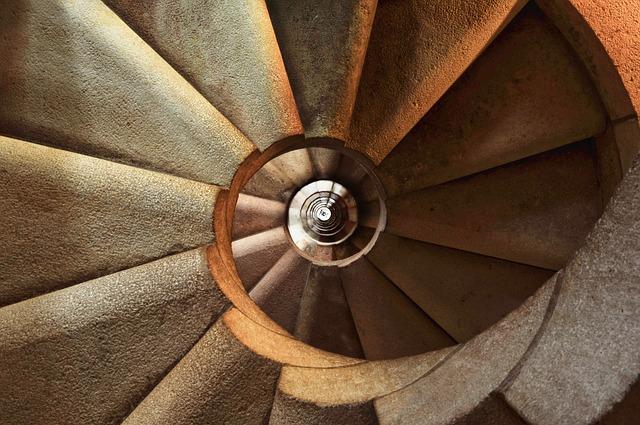 лестница, спираль, архитектуры