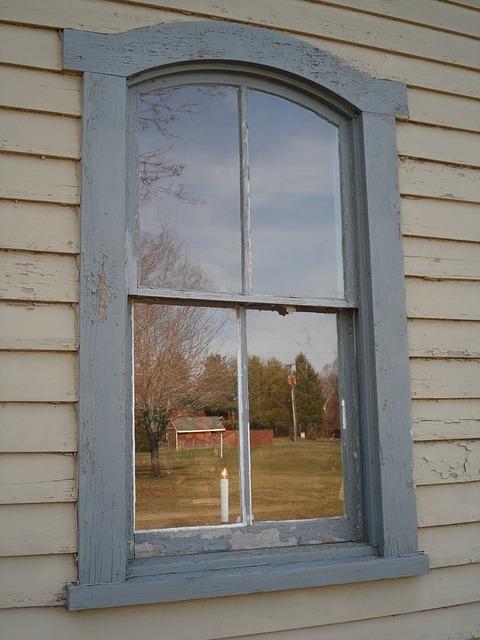 окно, отражение, стекло
