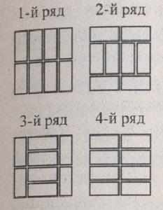 Кладка столбов и узких простенков из кирпича