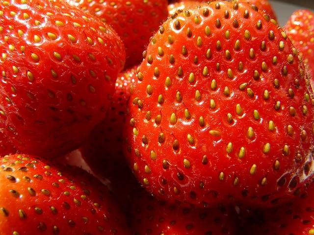 клубника, фруктовый, красный