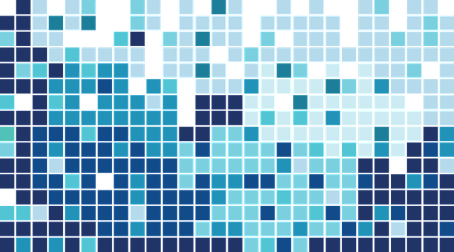 синий, плитка, мозаика