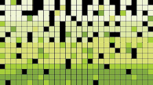 зеленый, мозаика, квадраты
