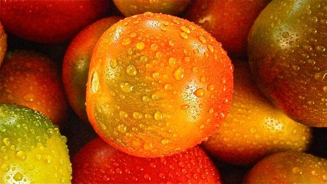 фрукты, помидор, овощной