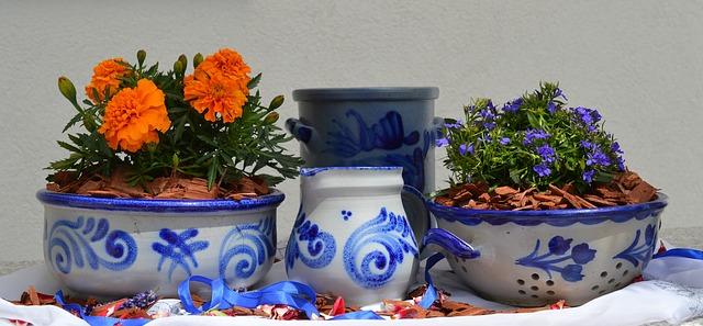 глиняная посуда, керамические, серый