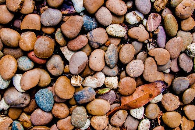 гравий, камни, гравий цветной