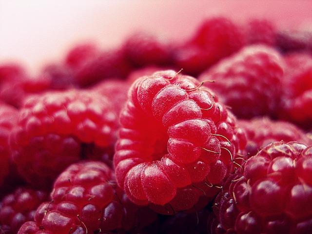малина, фрукты, свежие