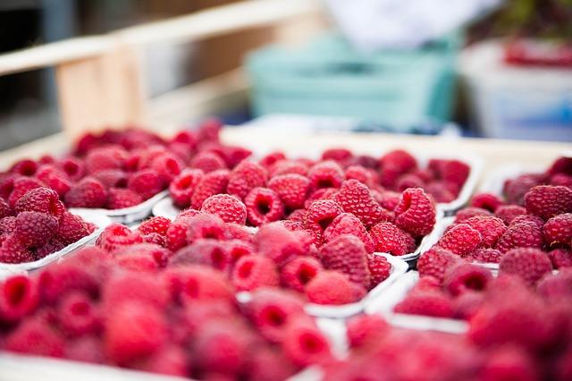 малина, красный, ягод