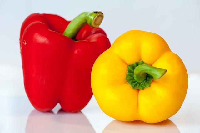 паприка, овощи, жёлтый