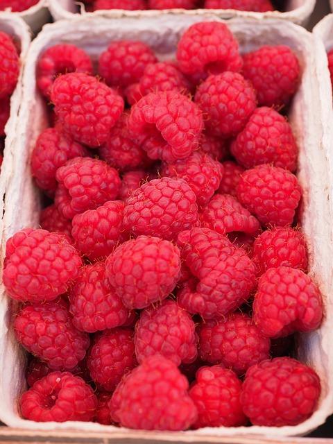 малина, ягод, фруктов