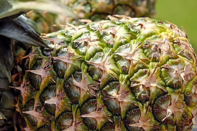 ананас, фруктов, текстура