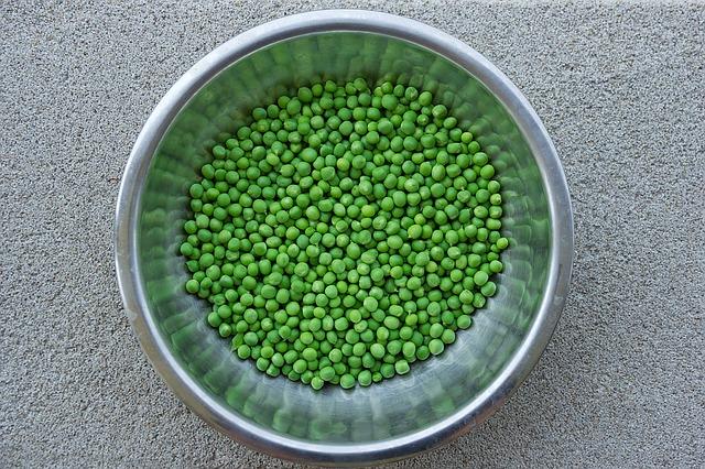 горох, овощи, зеленый