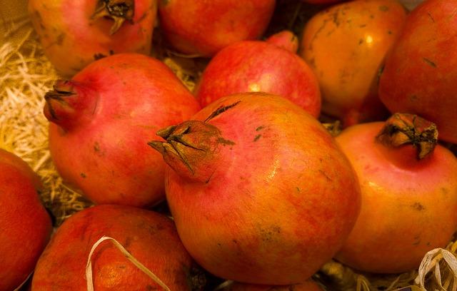 фрукты, гранаты, экзотические фрукты