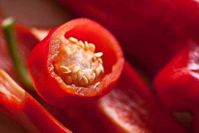 паприка, фрукты, внутри перца