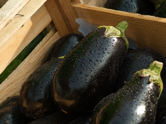 баклажан, рынок, овощи