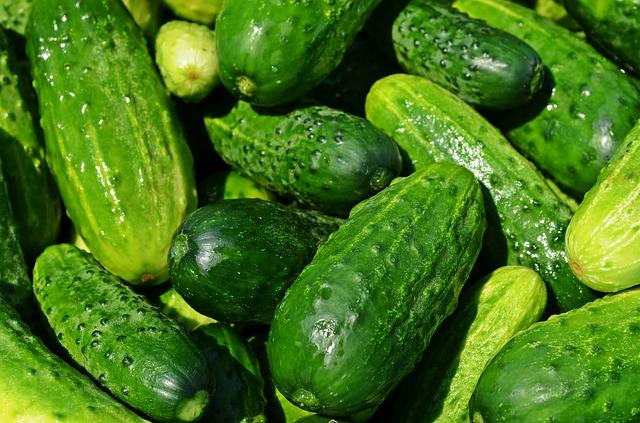 огурцы, овощи, питание